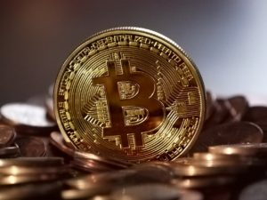 Bitcoin Münze Gold